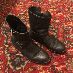 J Crew Leather Moto Boots